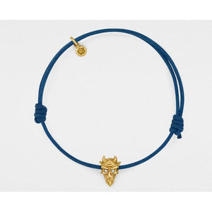 Devil Bracelet in Yellow Gold with Diamond Eyes from Snake Bones - My Beautiful Daughters