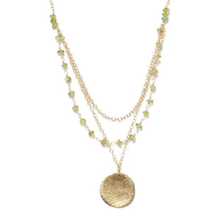 Alicia Marilyn Designs Triple Strand Peridot Necklace - My Beautiful Daughters