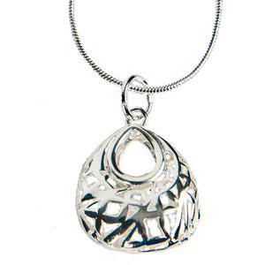 Miran Puffed Sterling Silver Necklace - My Beautiful Daughters