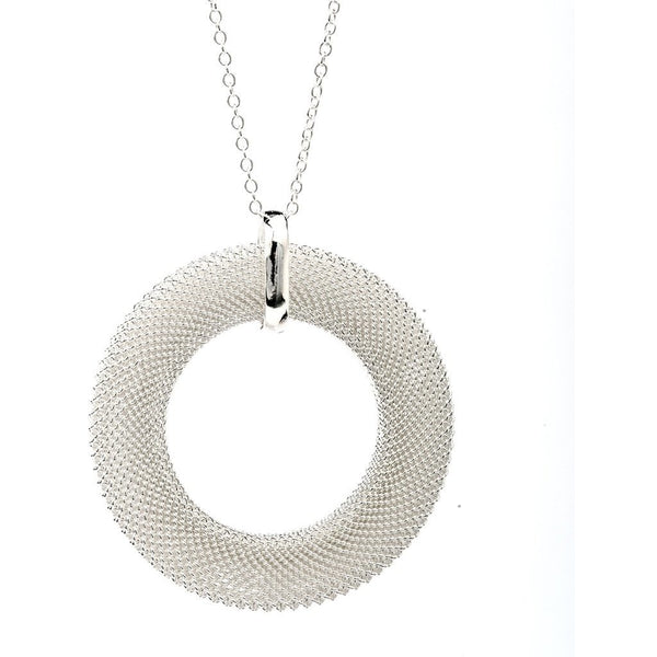 Mirabella Sterling Silver Mesh Necklace - My Beautiful Daughters