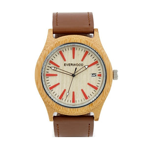 Kylemore by Everwood Watch Company | Bamboo Russet Leather