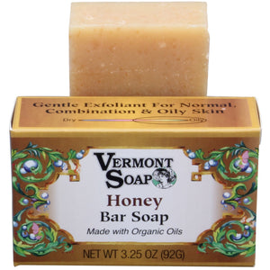 Vermont Organics Honey Bar Soap - 3.25 oz. - My Beautiful Daughters