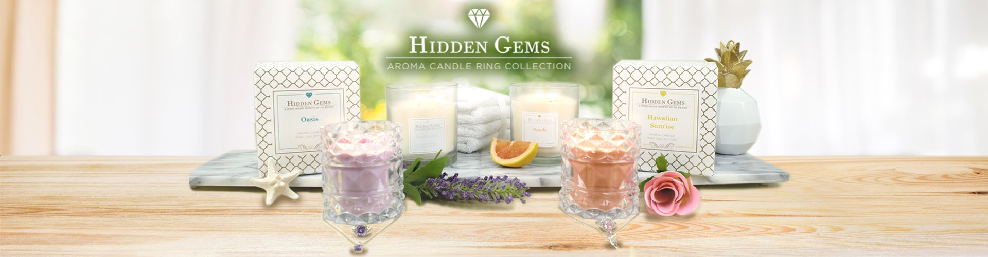 Hidden Gems Ring Candles