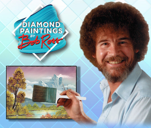 Enjoy our collection of Bob Ross bobble heads and Diamond paintings
