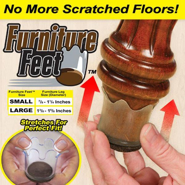 Furniture Feet (Transparent) | Free Shipping No Minimum • Showcase | furniture feet