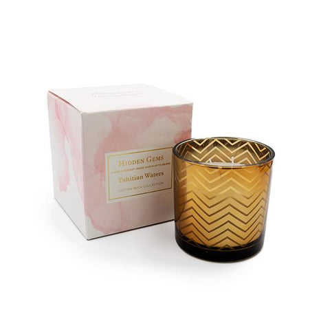 Hidden Gems Tahitian Waters Candle | 1 Ring & 1 Pendant Inside | Ring & Pendant Collection