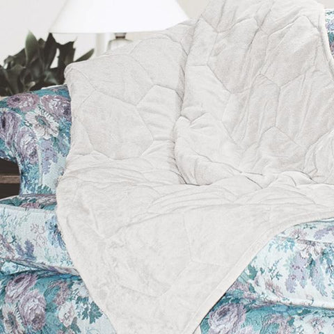 6lb Weighted Couch Throw | 1 Person | Milk Silk | Oatmeal