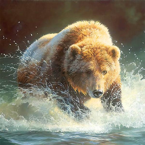 Studio Diamond Paintings by Bob Ross | Brown Bear