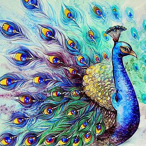 Studio Diamond Paintings by Bob Ross | Peacock's Plume