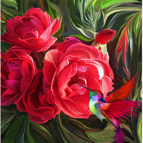 Studio Diamond Paintings by Bob Ross | Tropical Hummingbird