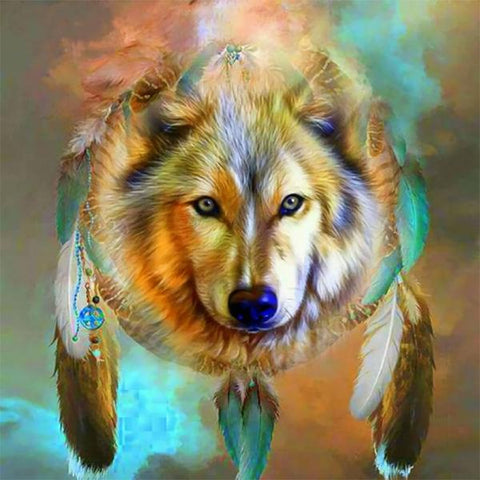 Studio Diamond Paintings | Wolf Dreamcatcher | Buy One, Get One 50% OFF!