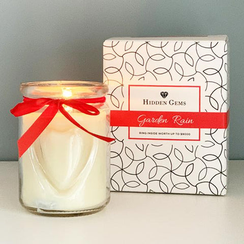 Hidden Gems Garden Rain Candle | 1 Ring Inside | BOGO 25% OFF