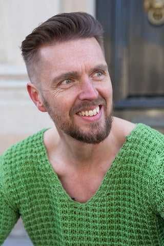HAPPY CUSTOMER - OUTRGS MENS FASHION - MANNENMODE - HERENMODE - HERENLABEL - GROENE TRUI - KNITTED SWEATER