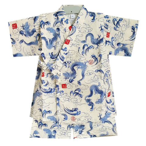 Okiddo Japanese Dragon Boy Suit (White)