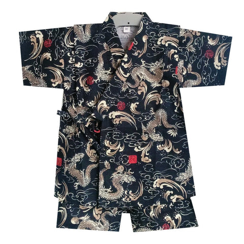 Okiddo Japanese Dragon Boy Suit (Black)