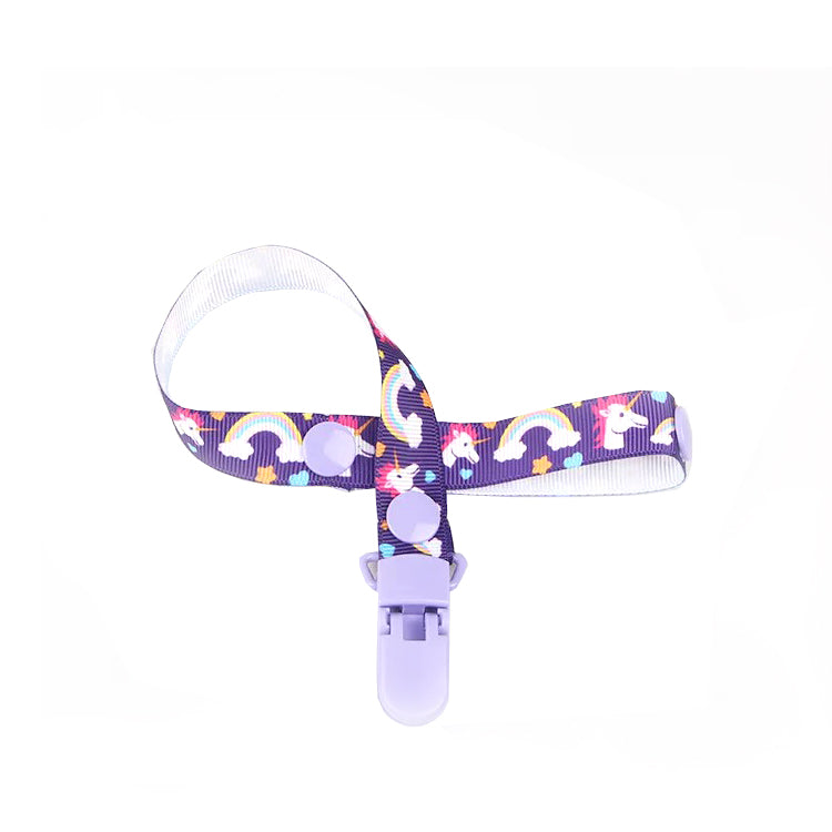 Rainbow Unicorn Pacifier Clip