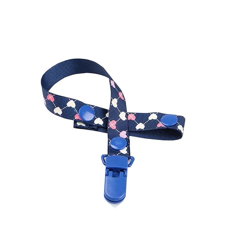 Heart Prints Pacifier Clip