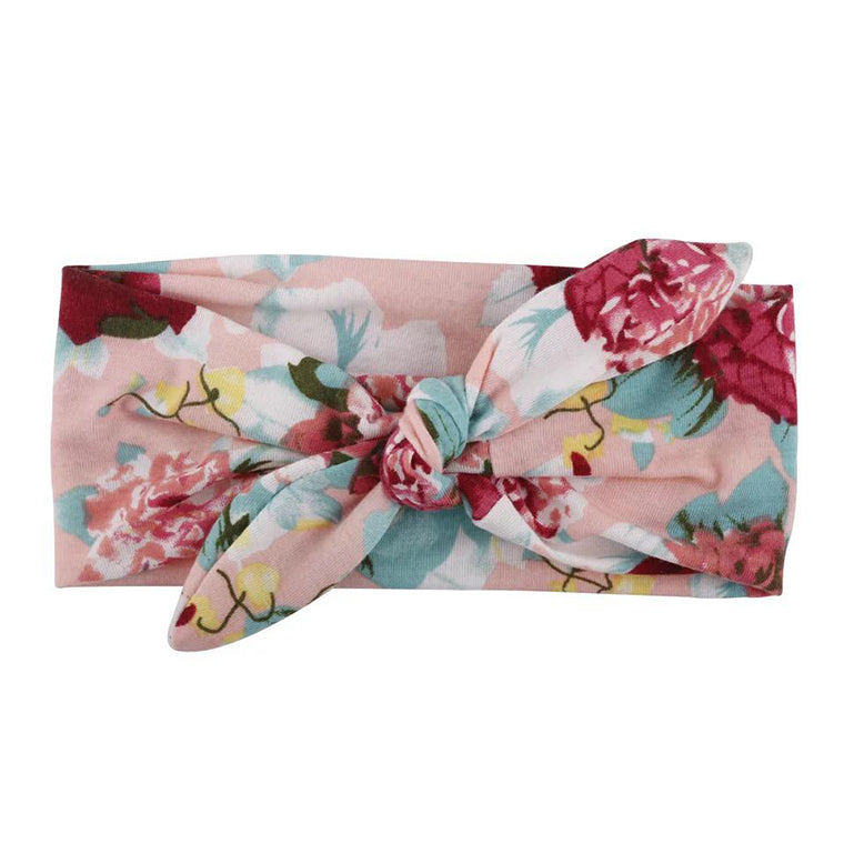 Light Pink Cotton Floral Headband