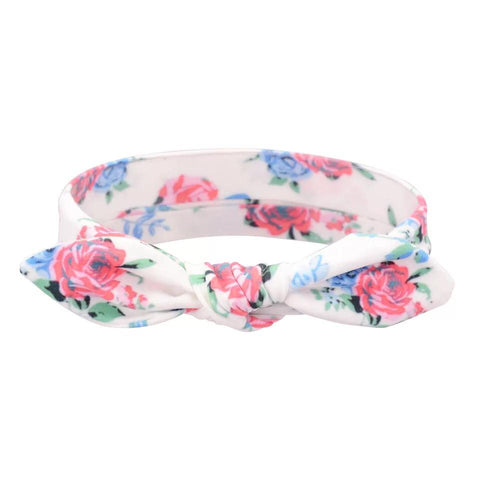 Rose Prints Cotton Headband