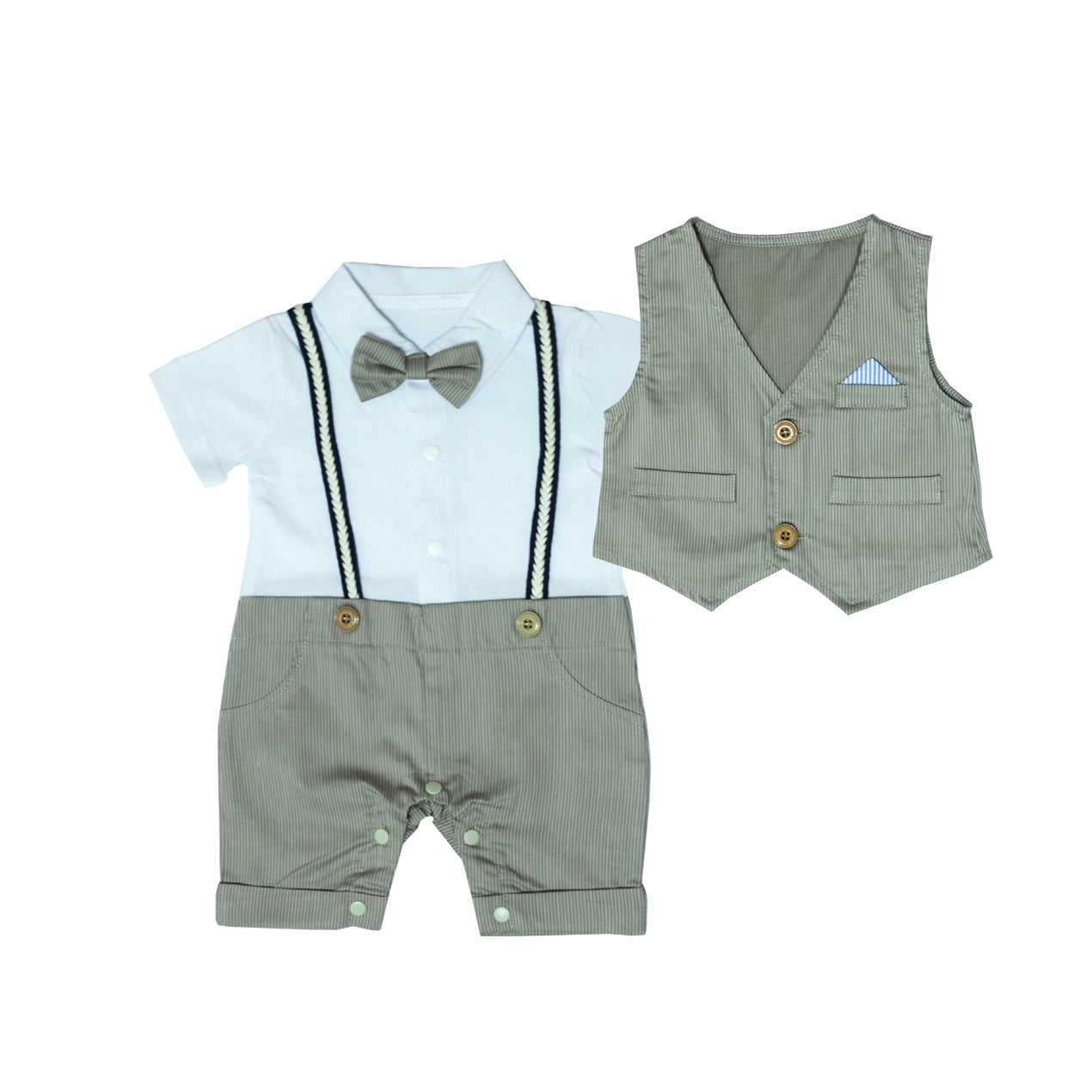 Charming Smart Romper with Detachable Vest