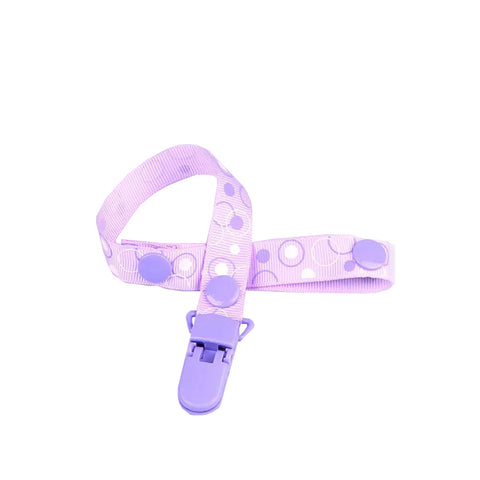 Purple Circle Pacifier Clip