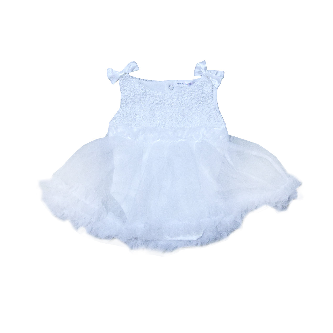 Aurora White Lace Fluffy Romper