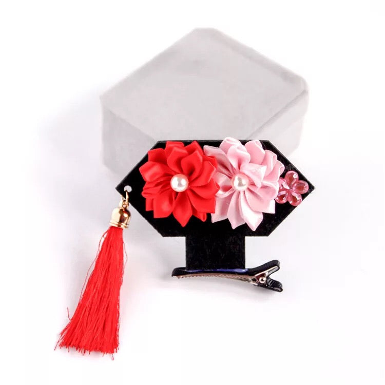 Chinese Princess Hair Clip - RED
