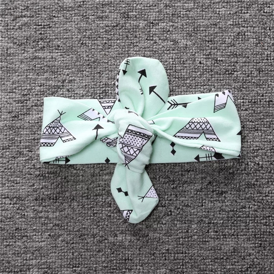 Pastel Green Arrow Prints Baby Headband