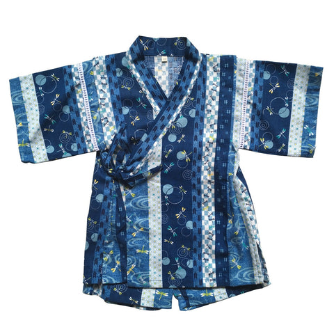 Okiddo Dragonfly Strip Boy Suit (Blue)