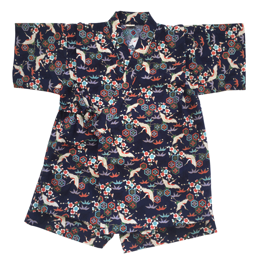 Okiddo Bronzing Crane Boy/Girl Suit (Blue)