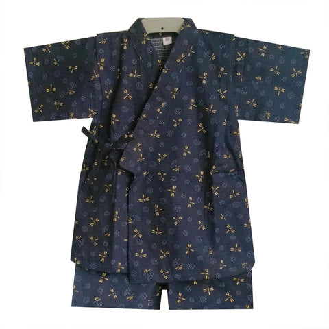 Okiddo Japanese Dragonfly Boy Suit (Blue)