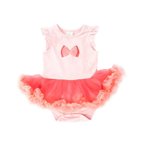 Light Peach Fluffy Romper