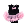 Black & Pink Fluffy Romper