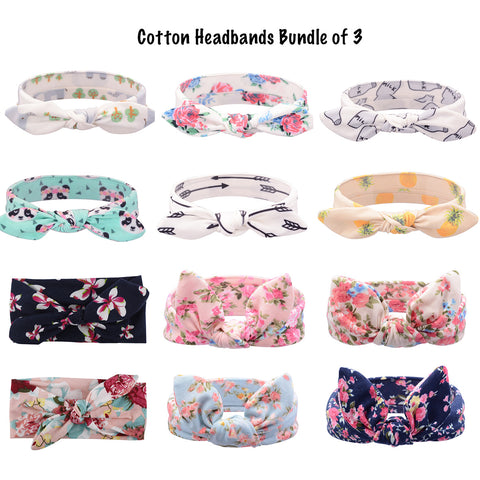 Cotton Headbands - Bundle of 3