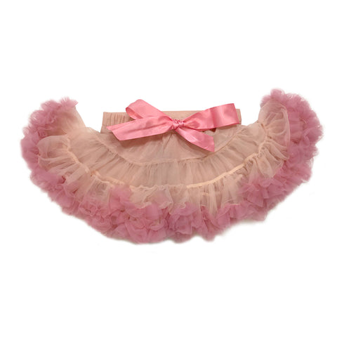 2 Tones Peach Tulle Skirt