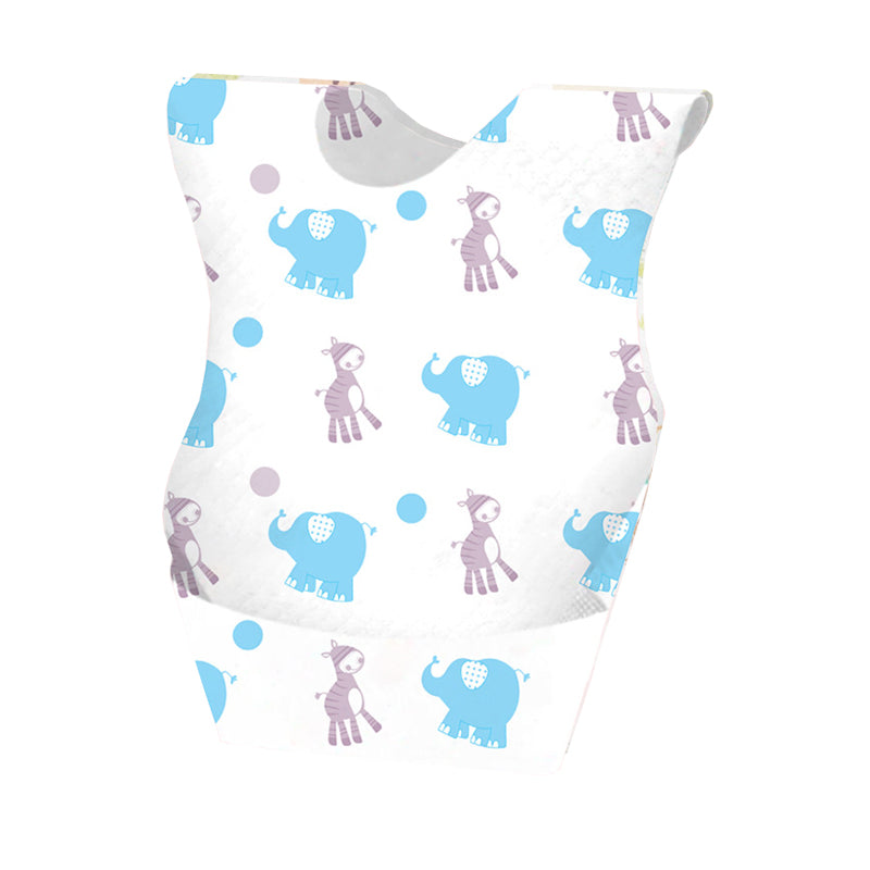 Disposable Baby Feeding Bib - Elephant