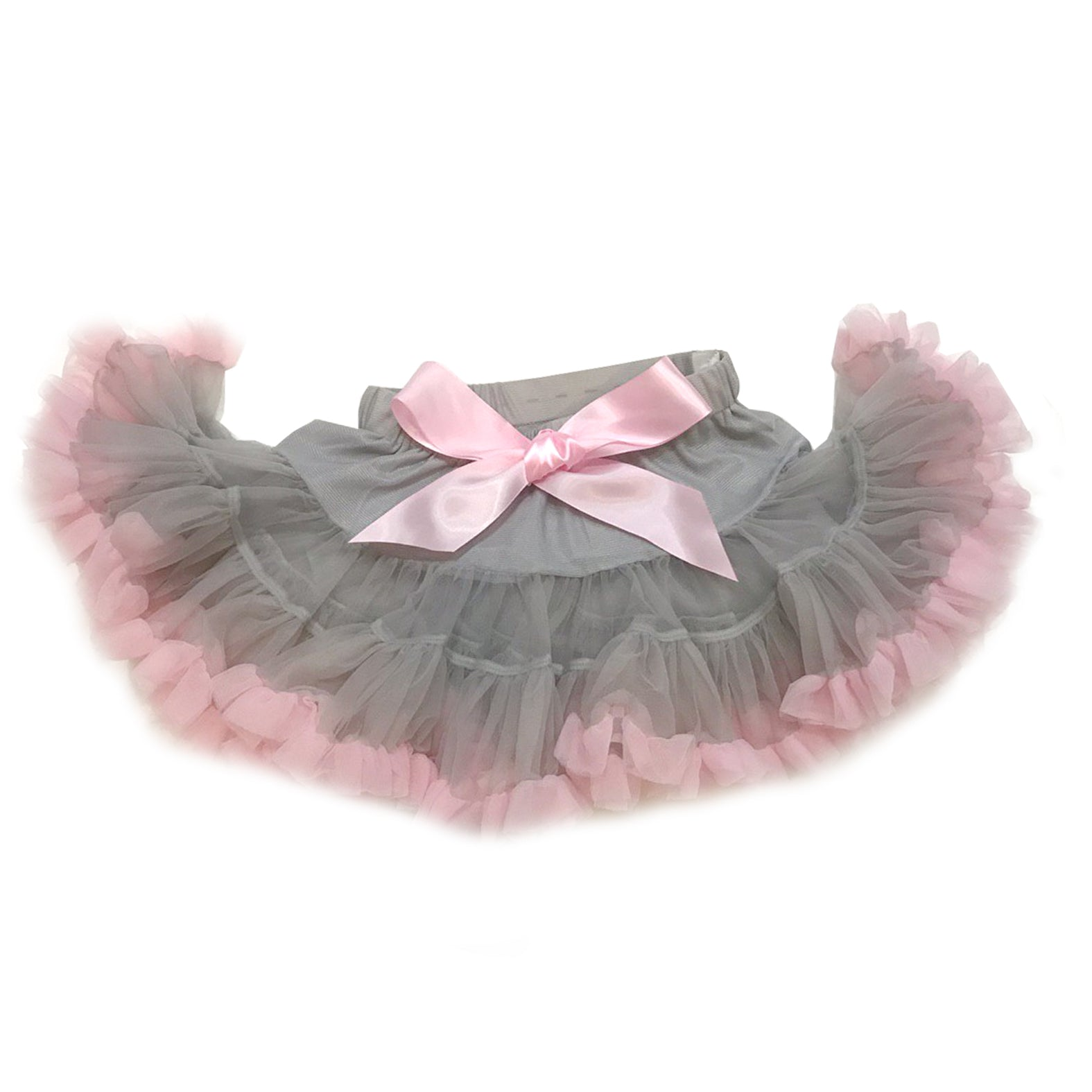 Dusty Grey with Pink Tulle Skirt