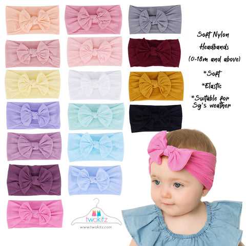 Nylon Headbands - Bundle of 3