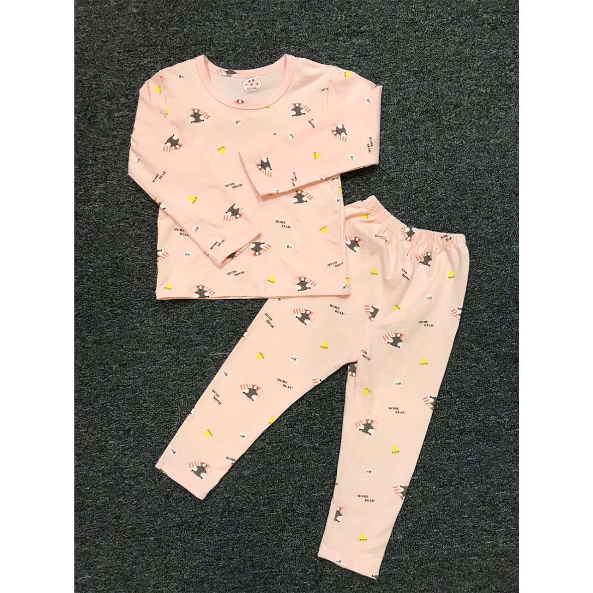 Light Pink Fox Prints 2pcs Pjamas Set