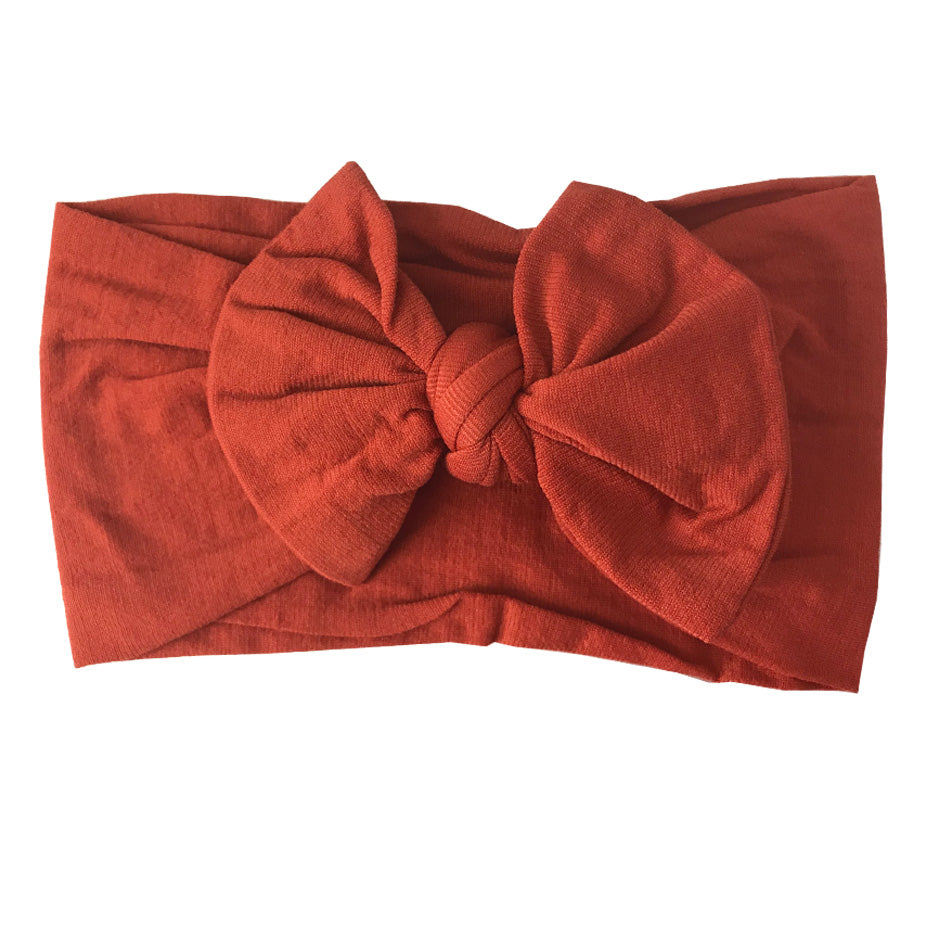 Orange Brown Nylon Headband