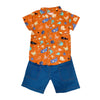 Shirt & Shorts Set - Orange Marine