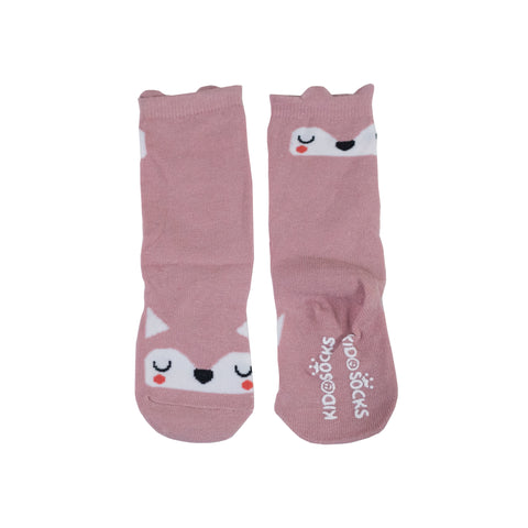 Mustard Pink Bear Long Socks