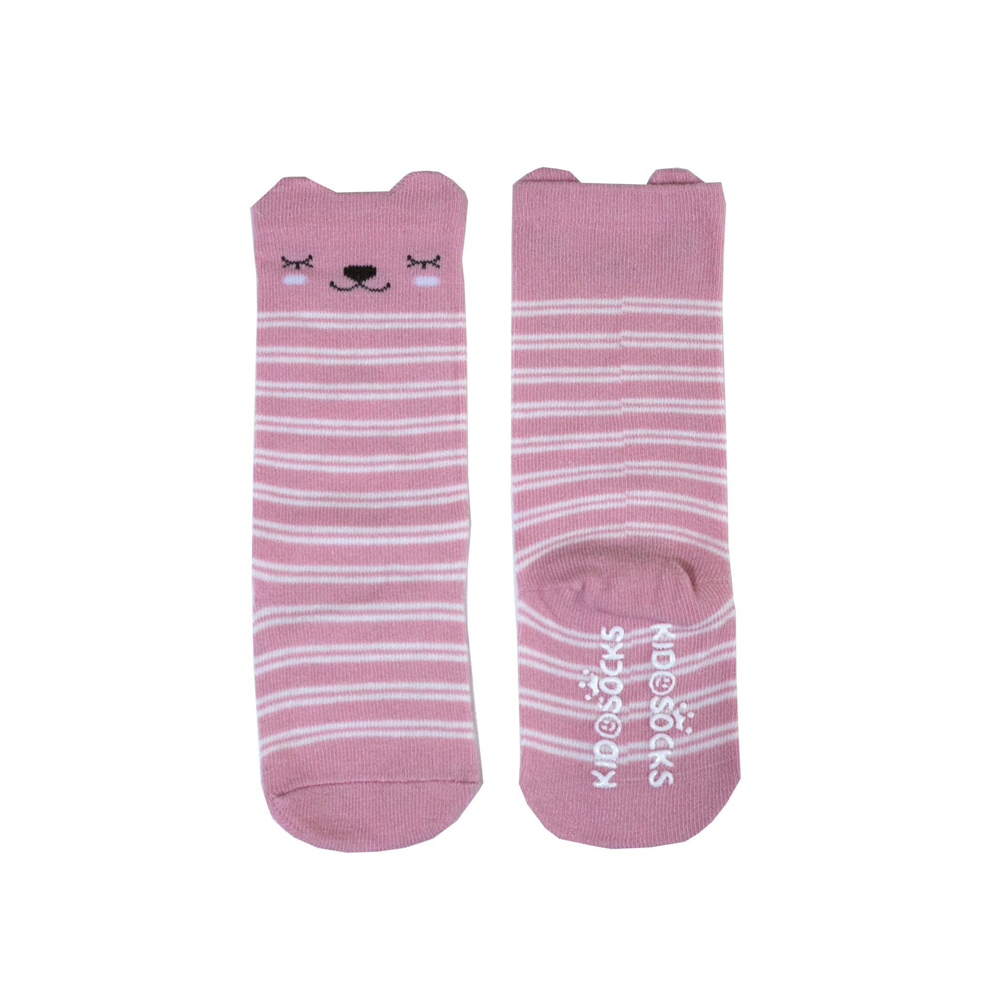 Pink Stripes Long Socks