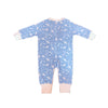 Sky Blue Spaceship Prints Pyjamas Romper