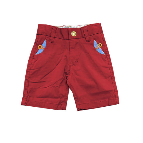 Aiden Red Bermudas