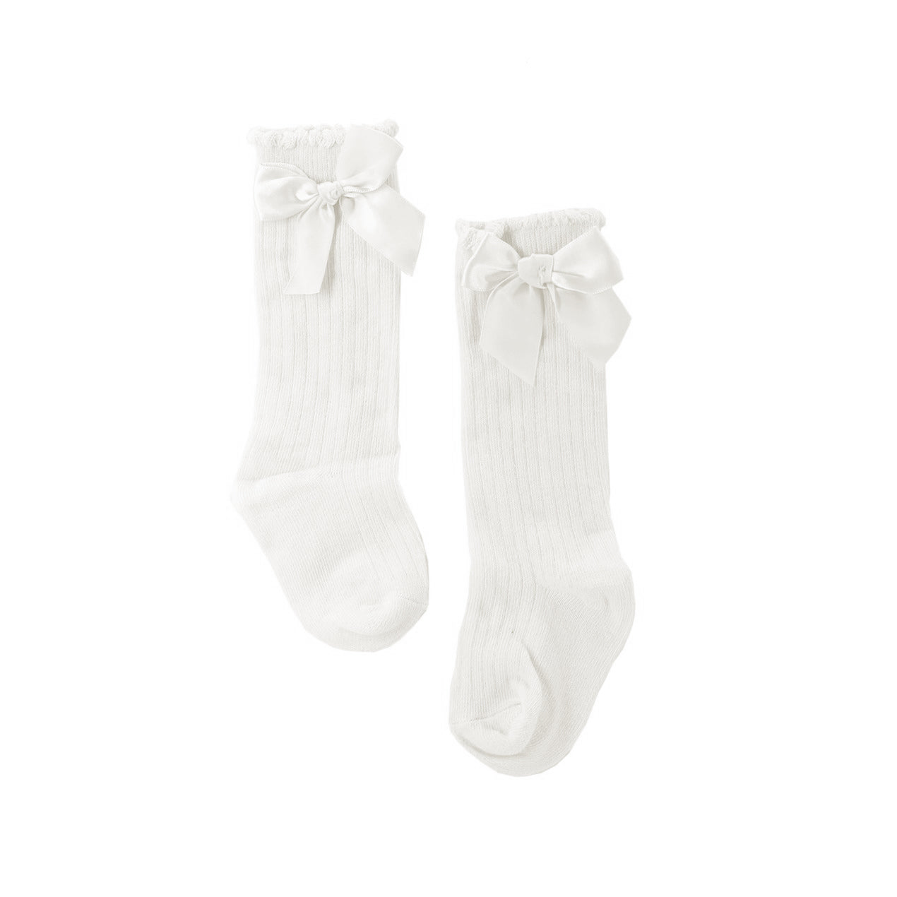 Ribbon Long Socks (White)