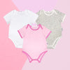 Daily Essential Baby Romper Pack (3pack Set) Pink