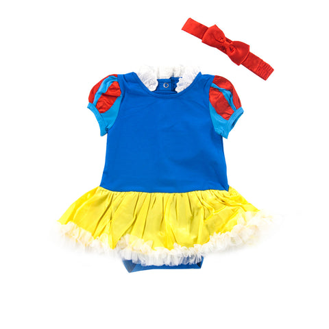 Princess Snow White Fluffy Romper