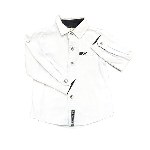 White Smart Button Shirt