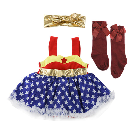 Wonder Woman Fluffy Romper Set